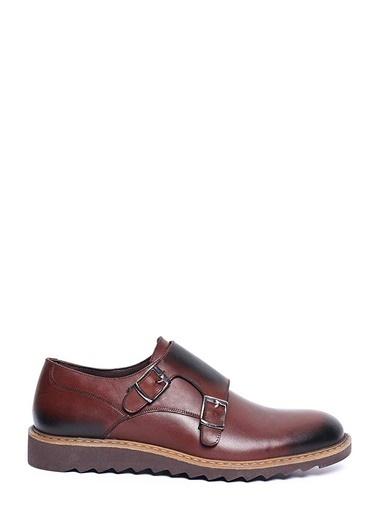 Pierre Cardin Çift Tokalı Klasik Ayakkabı Kahve